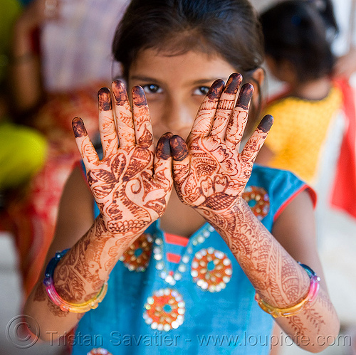 hand palms mehndi - henna tattoo, body art, hand palms, hands, henna tattoo, india, little girl, mehndi designs, sailana, temporary tattoo