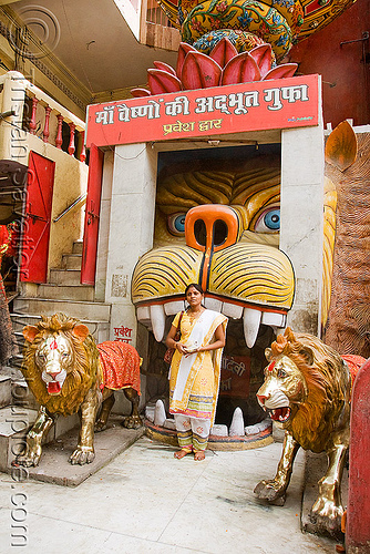 hanuman temple - delhi (india), delhi, fangs, hanuman, head, hindu temple, hinduism, india, mouth, tiger