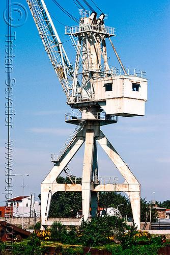harbor crane, buenos aires, harbor crane, harbour crane, la boca, portainer, riachuelo, rusted, rusty, río la matanza, río matanza
