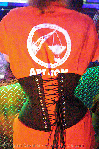 headless point artist retreat and work camp - ART by TON (san francisco), black, bm pre-compression, burning man, corset, flambe, flambé lounge, green, orange