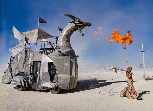 heavy meta dragon art car - burning man 2019, burning man, dragon art car, heavy meta art car, mutant vehicles