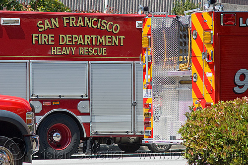 heavy rescue - san francisco fire department, fire engines, fire trucks, sffd, street