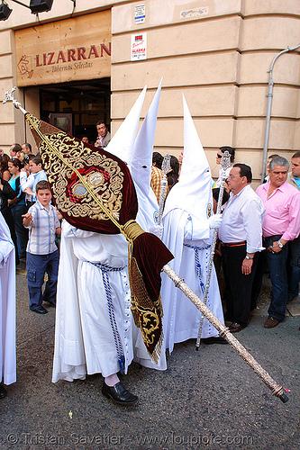 hermandad de la paz - semana santa en sevilla, andalucía, capirotes, cofradía, easter, nazarenos, parade, people, procesión, procession, religion