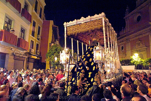 hermandad de las penas de san vicente - semana santa en sevilla, andalucía, candles, capirotes, cofradía, easter, embroidery, float, goldwork, hermandad de las penas de san vicente, madonna, nazarenos, night, parade, paso de la virgen, procesión, procession, religion, sacred art, semana santa, sevilla
