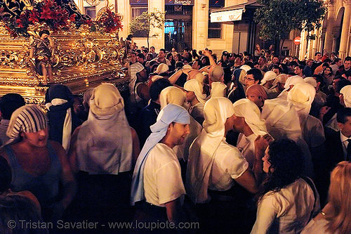 hermandad de las siete palabras - semana santa en sevilla, andalucía, candles, cofradía, easter, hermandad de las siete palabras, night, parade, procesión, procession, religion, semana santa, sevilla