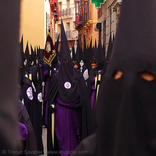 hermandad de san bernardo - semana santa en sevilla (spain), andalucía, capirotes, cofradía, easter, nazarenos, parade, people, procesión, procession, religion