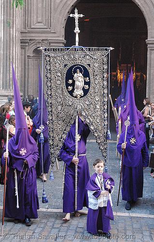 hermandad del valle - semana santa en sevilla, andalucía, capirotes, cofradía, easter, el valle, nazarenos, parade, people, procesión, procession, religion