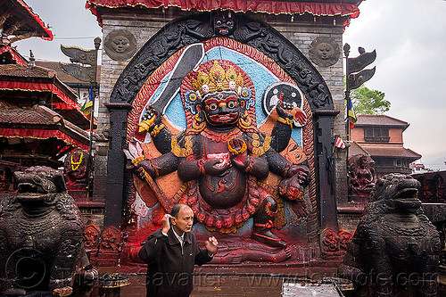kala bhairab in kathmandu (nepal), hindu temple, hinduism, kathmandu, man, sculpture, shiva