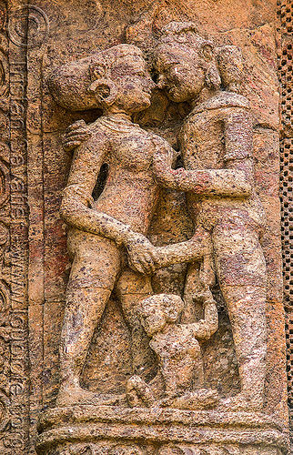 hindu erotic sculpture - konark sun temple (india), erotic sculptures, high-relief, hindu temple, hinduism, india, konark sun temple, maithuna