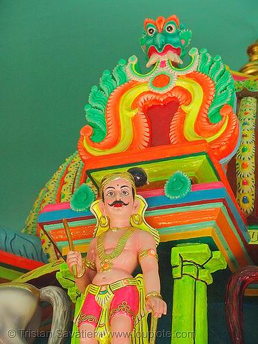 hindu god - kho me deity - temple (detail) - vietnam, deity, hindu, hinduism, khmer krom, kho-me, religion, temple