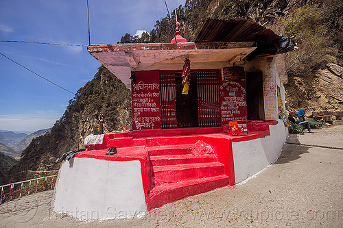 hindu shrine on the yamunotri trail (india), hinduism, shrine, yamunotri trail, yamunotri trek
