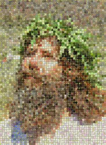 hippie jesus mosaic, derivative, hippie, jesus christ, mosaic, religion
