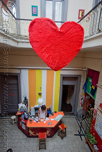 hostel clan - buenos aires, argentina, buenos aires, hostel clan, lobby, love, red