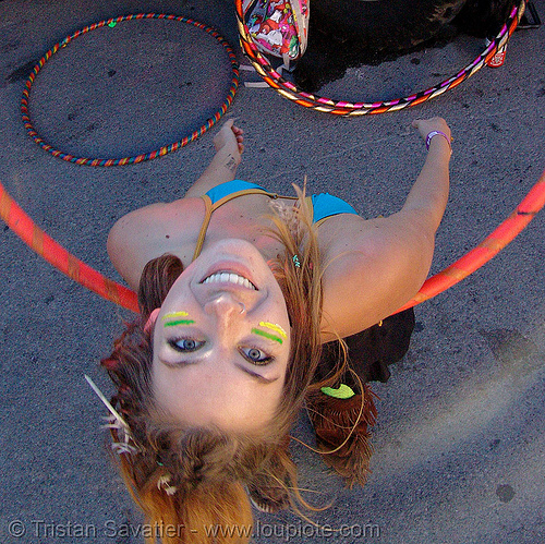 hula-hooper - rachel - burning man decompression 2007 (san francisco), burning man decompression, hula hoop, rachel, woman