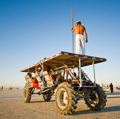 human powered art car - the maltese fulcrum - burning man 2010, art car, burning man, human powered, kinetic, mutant vehicles, pedal powered
