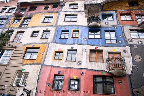 hundertwasserhaus - hundertwasser building (vienna), building, facade, haus, house, hundertwasser, hundertwasserhaus, vienna, wien, windows