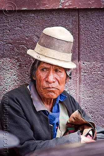 indigenous man with traditional hat (bolivia), bolivia, bowler hat, indigenous, man, potosí, quechua