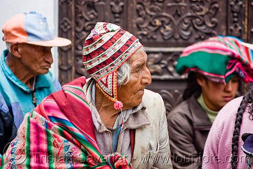 indigenous man with chullo hat, men, people, potosí, quechua
