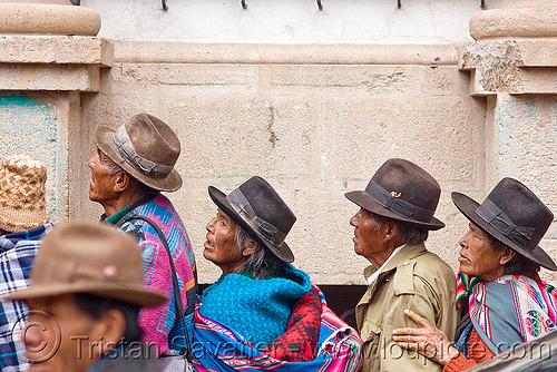 indigenous quechua people (bolivia), bowler hats, hat, indigenous, men, potosí, quechua