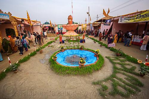 inside an ashram - kumbh mela (india), ashram, hindu, hinduism, kumbha mela, linga, maha kumbh mela, shiva lingam