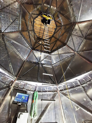 inside cone down - cable ladder - burning man 2019, art installation, burning man, cable ladder, cone down, inside, interior