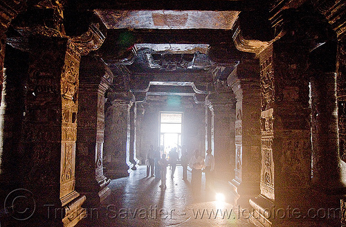 inside kailash temple - monolithic hindu temple - ellora caves (india), ellora caves, hindu temple, hinduism, india, kailash temple, monolithic, rock-cut, कैलास मन्दिर