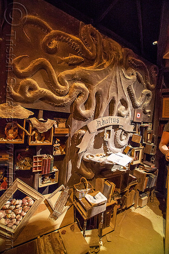 inside the lighthouse - burning man 2016, art installation, black rock lighthouse, burning man, inside, interior, light house, night, octopus low relief, octopus sculpture