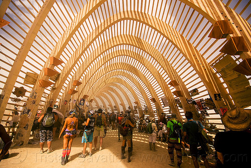 inside the temple of promise - burning man 2015, architecture, interior, temple of promise