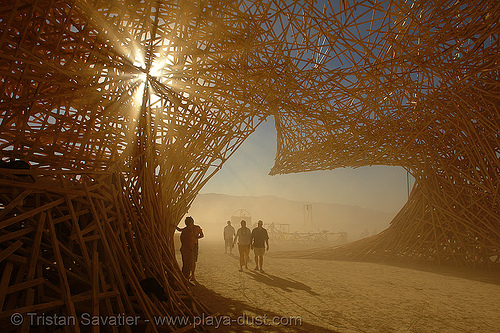 inside uchronia - burning-man 2006, art installation, belgian waffle, burning man, uchronia