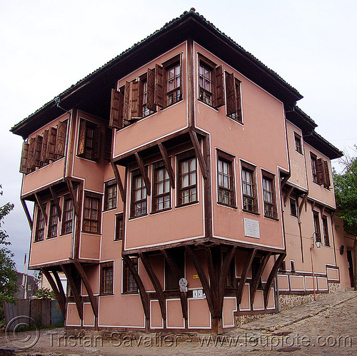 interesting house (bulgaria), architecture, facade, house, wooden