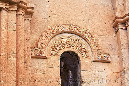 Işhan monastery - georgian church ruin (turkey), architecture, byzantine, byzantine architecture, carving, decoration, floral, geometric, ishan, ishan monastery, işhan, işhan church, low-relief, motives, orthodox, orthodox christian, religion, ruins, stone, window