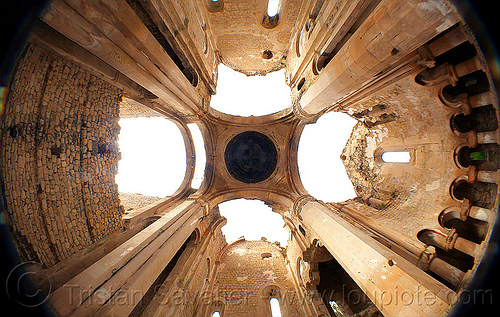Işhan monastery - georgian church ruin (turkey), byzantine architecture, fisheye, georgian church, ishan monastery, işhan church, nave, orthodox christian, religion, ruins