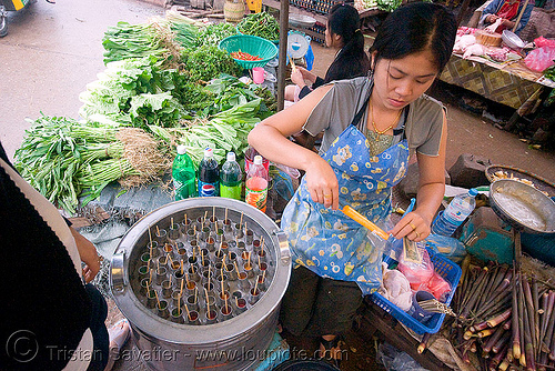 italian ice - luang prabang (laos), ice pops machine, italian ice, laos, luang prabang, merchant, popsicles, stall, street market, street seller, vendor, water ice, woman