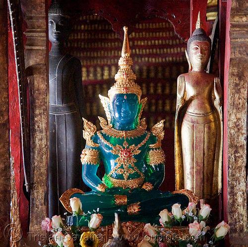 jade buddha - luang prabang (laos), buddha image, buddha statue, buddhism, buddhist temple, cross-legged, jade, luang prabang, sculpture