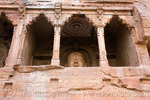 jain temple - gwalior (india), caves, gwalior, jain temple, jainism, rock-cut, sculptures, statue, temples, tirthankaras