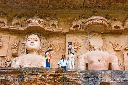 jain temple - gwalior (india), caves, himanshu gupta, jainism, rock-cut, sculptures, statue, temples, tirthankaras
