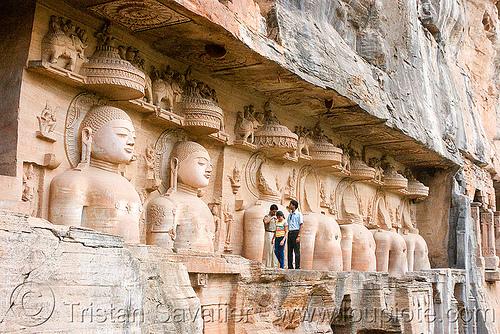 jain temple - gwalior (india), caves, gwalior, himanshu gupta, jain temple, jainism, rock-cut, sculptures, statue, temples, tirthankaras