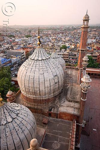 jama masjid mosque minaret - delhi (india), architecture, delhi, islam, jama masjid, minaret, mosque, religion, مسجد جھان نما