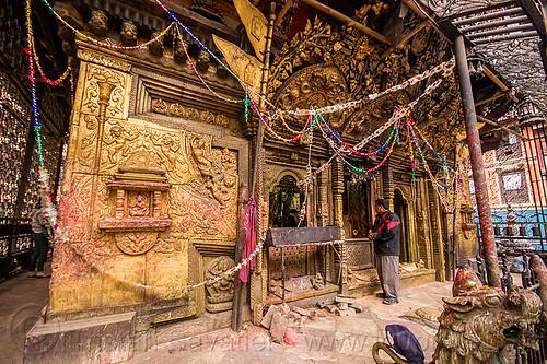 jana baha temple - kathmandu (nepal), golden, hindu temple, hinduism, jana baha, jana bahal, kathmandu
