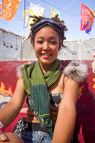 japanese girl - ajary - burning man 2013, akari, center camp, people, woman