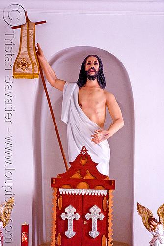 jesus preaching - san pedro de atacama (chile), chile, christ, church, jesus, religion, sacred art, san pedro de atacama, sculpture, statue