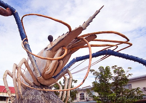 jumbo shrimp, antennas, art, beluran, giant prawn, giant shrimp, jumbo prawn, landmark, langouste, lobster mutiara, monument, rock lobster, sculpture, spiny lobster