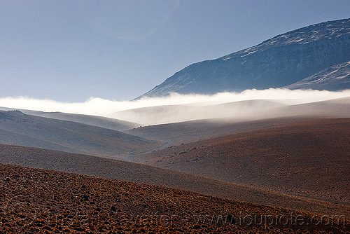 juriques volcano between san pedro de atacama (chile) and the bolivia border, cloud, fog
