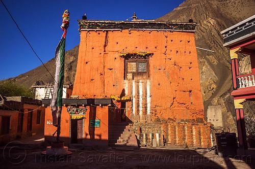 kagbeni gompa - tibetan buddhist monastery (nepal), annapurnas, buddhism, gompa, kagbeni, kali gandaki valley, monastery, tibetan, village