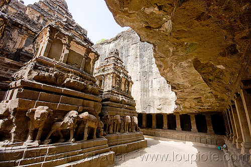 kailash hindu temple - ellora caves (india), ellora caves, hindu temple, hinduism, india, kailash temple, monolithic, rock-cut, कैलास मन्दिर