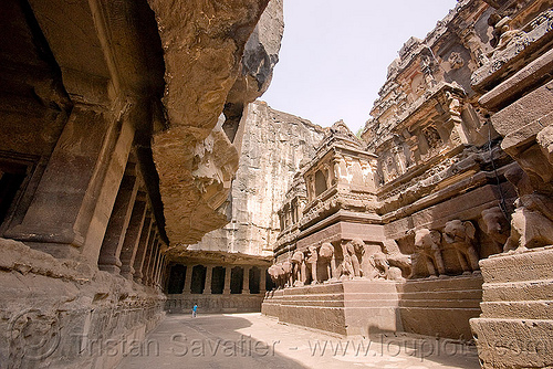 kailash temple - ellora caves (india), ellora caves, hindu temple, hinduism, india, kailash temple, monolithic, rock-cut, कैलास मन्दिर