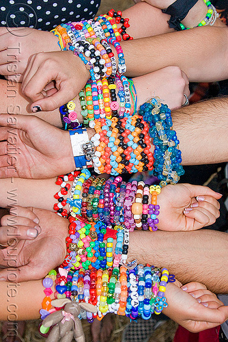 kandi kids bracelets - kandi cuffs, beads, bracelets, clothing, colorful, fashion, hands, kandi cuffs, kandi kid, kandi raver, party, wrists