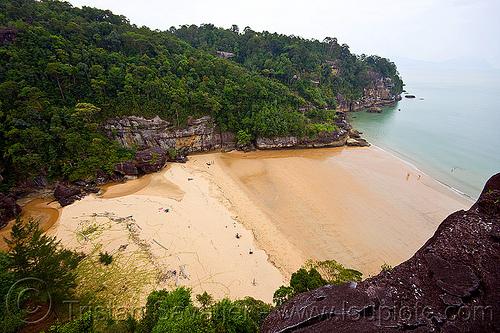 kecil beach - baku national park (borneo), baku, kecil beach, kuching, ocean, sand, sea, seashore, shore, telok pandan kecil