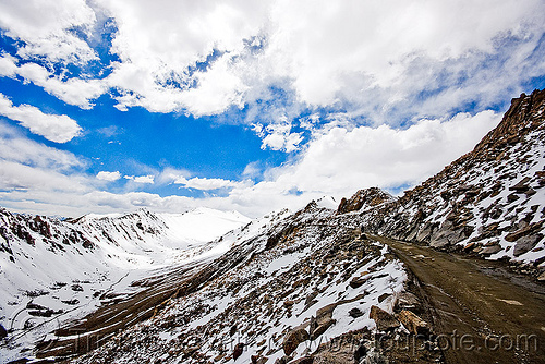 khardungla pass - ladakh (india), khardung, khardung la, khardung la pass, mountain pass, mountains, road, snow