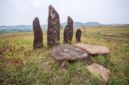 khasi menhirs and dolmens - memorial stones (india), archaeology, cenotaph, east khasi hills, megaliths, meghalaya, monoliths, standing stones, table-stones